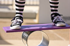 Exercicio de equilibrio Foto de Stock