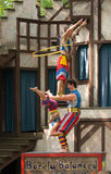 Exercicio de equilibrio Fotos de Stock Royalty Free