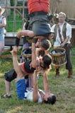 Exercicio de equilibrio Fotografia de Stock Royalty Free