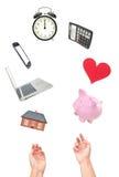 Exercicio de equilibrio da vida do trabalho Imagens de Stock