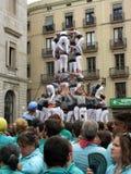 Exercicio de equilibrio na Espanha de Barcelona fotos de stock royalty free