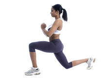 Exercise. African american women doing exercise Stock Photography