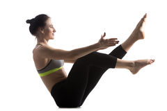 Exercise for abdominal muscles royalty free stock photos