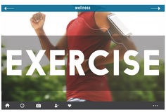 Exercise Activity Fitness Health Cardio Active Wellness Concept.  Royalty Free Stock Photography