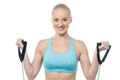 Exercise for arms power Royalty Free Stock Images