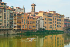 Exercise on the Arno River Royalty Free Stock Images
