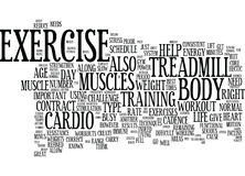 Exercise As Power Source Text Background  Word Cloud Concept Stock Photos