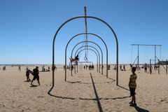 Free Exercise At Santa Monica Beach Royalty Free Stock Photography - 93610697