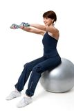 Exercise on ball Stock Photos