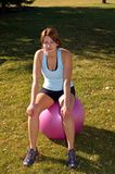 Exercise ball Royalty Free Stock Images