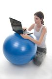 Exercise Ball Desk 1 Royalty Free Stock Photo