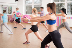 Exercise with ball Royalty Free Stock Photo