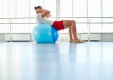 Exercise on ball Stock Photos