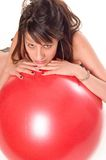Exercise ball rollout Stock Photos