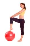 Exercise ball rollout Royalty Free Stock Images