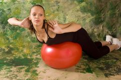Exercise ball rollout Stock Photo