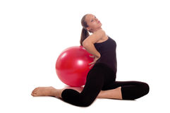 Exercise ball rollout Royalty Free Stock Image