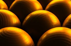 Exercise balls Stock Images