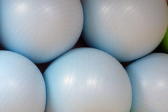 Exercise balls. In fitness center Royalty Free Stock Images