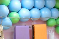 Exercise balls. In fitness center Stock Photo