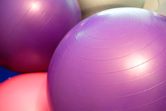 Exercise balls. In fitness center Stock Photography