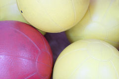 Exercise balls. In fitness center Stock Images