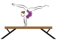 Exercise on the bar Royalty Free Stock Photography