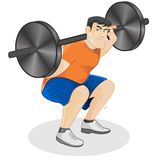 Exercise with barbell Royalty Free Stock Photography