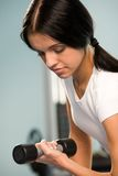 Exercise with barbell Stock Photography