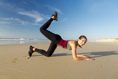 Exercise at the beach Stock Image