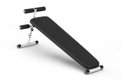 Exercise bench. Gym Equipment. On a white background Stock Photography
