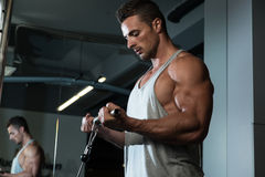 Exercise For Biceps With Cable stock photos