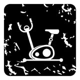 Exercise bicycle icon, grunge style. Exercise bicycle icon. Grunge illustration of exercise bicycle vector icon for web Royalty Free Stock Images