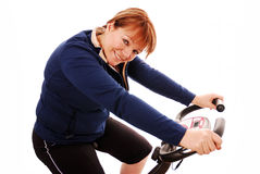 Exercise bike Stock Photo