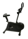 Exercise Bike. Exercise bicycle on a white background Royalty Free Stock Images