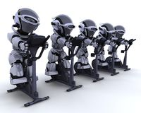 Exercise bike Stock Images