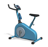 Exercise Bike. 3D render of an exercise bike, isolated on white Stock Photography