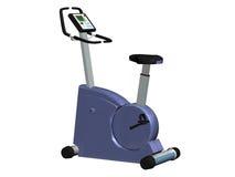 Exercise bike. Computer image,blue exercise bike 3D, isolated white background Royalty Free Stock Photos