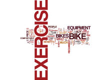 Exercise Bike Benefits Text Background  Word Cloud Concept. EXERCISE BIKE BENEFITS Text Background Word Cloud Concept Royalty Free Stock Photography