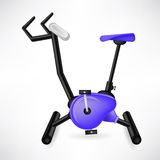 Exercise Bike. For Cycling  on White Background Royalty Free Stock Photo