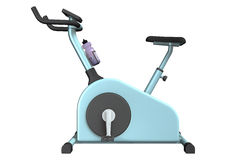 Exercise Bike. 3D digital render of an indoor exercise bike isolated on white background Stock Image
