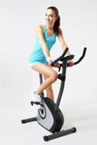 Exercise bike, effective form of exercise Royalty Free Stock Images
