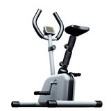 Exercise bike grey Stock Images