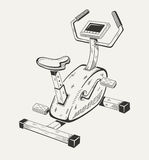 Exercise bike. Sport equipment Stock Photo