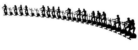 Exercise bikes Stock Photo