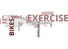 Exercise Bikes Burn Calories Text Background  Word Cloud Concept Royalty Free Stock Photo