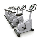 Exercise Bikes Royalty Free Stock Photo