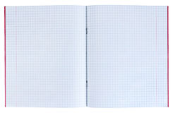 Exercise book in a cell Royalty Free Stock Photography