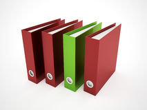Exercise book red and green Royalty Free Stock Photo