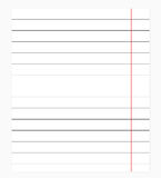 Exercise book in a ruler. Vector illustration Stock Image